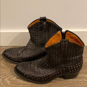 One of a kind Frye studded boot